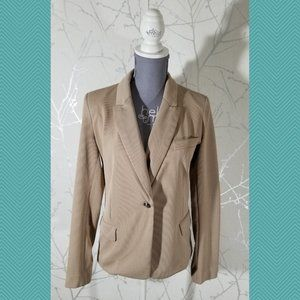 Love Tree Single Button Unlined Fitted Blazer